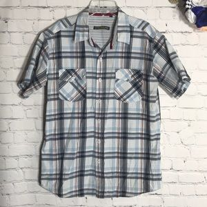 191 short sleeve plaid button down shirt